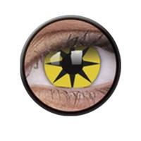 Crazy Lens Anuais Yellow Star - 2 Lentes