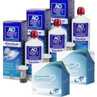 Pack 3x Aosept Plus 360ml + 2x PureVision 6 lentes