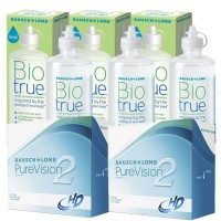 Pack 3x Biotrue 300ml + 2x PureVision 6 lentes